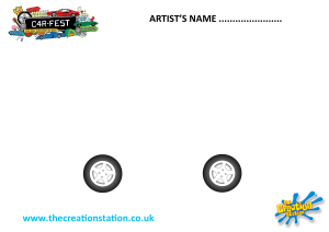 Design your own creative car in celebration of Creation Station being at C4R-FEST