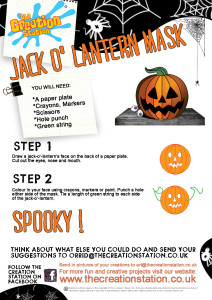 Create your own Jack o' lantern Mask