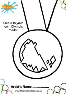 Colour and decorate your own medal for the Winter Olympics!