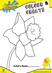Colour and Create your own Daffodil