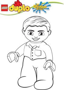 Creation Station Lego Duplo Colouring In Sheet