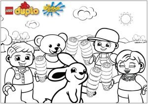 Creartion Station Lego Colouring in sheet ice cream Duplo