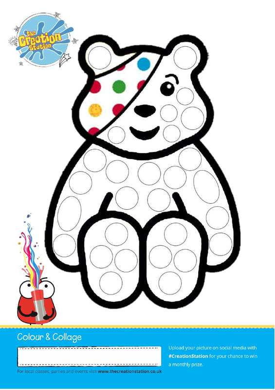 Pudsey Colour and Collage Sheet