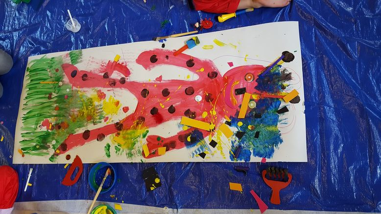 CBeebies First painting with Creation Station