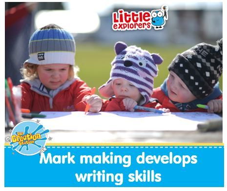 Mark making develops kids writing skills