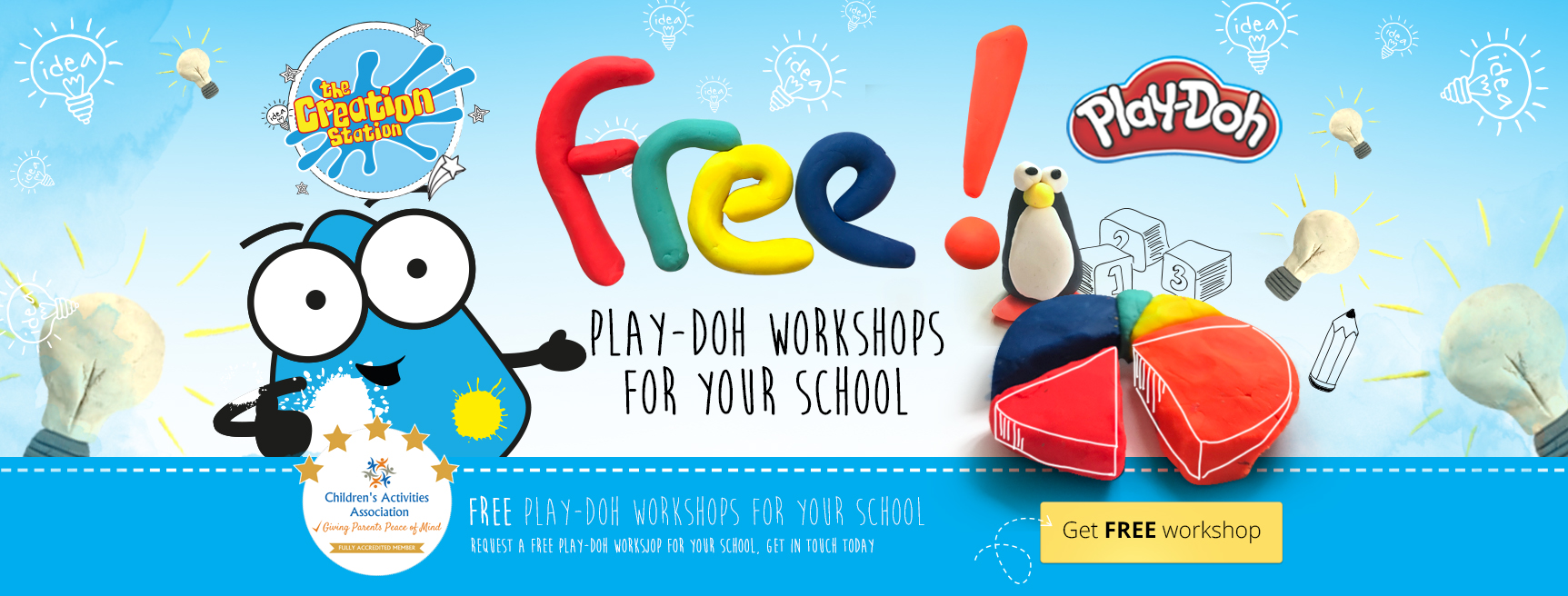Free Creation Station Play-Doh workshops for schools