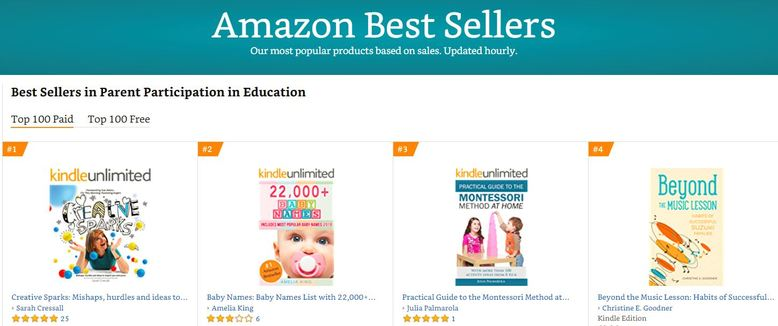 Creative Sparks book hits number one spot on Amazons top sellers list