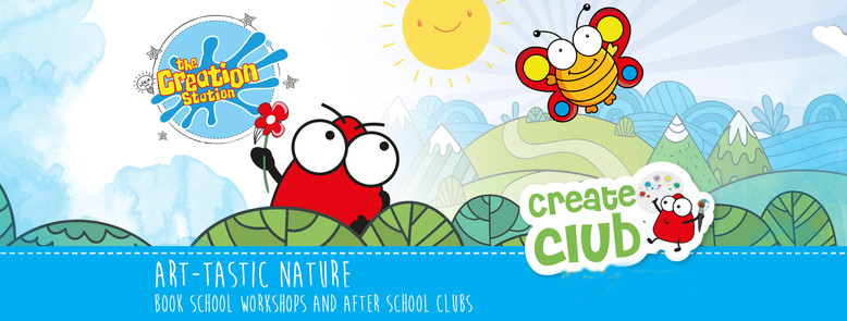 'Art-astic Nature' Creation Station workshops for schools and after school clubs