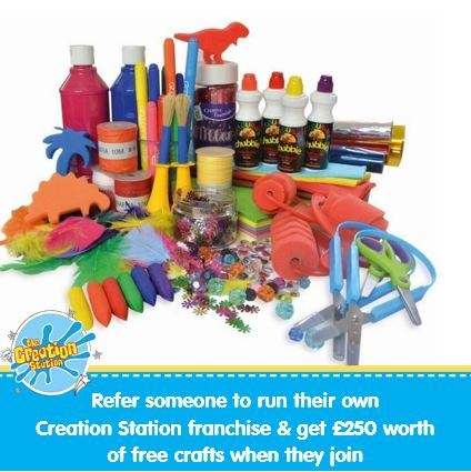 Get £250 worth of crafts when yoiu refer someone to run their own Creation Station franchise