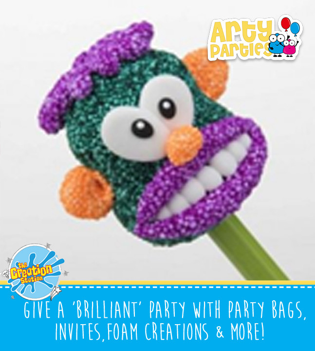 Kids party entertainment with foam creations