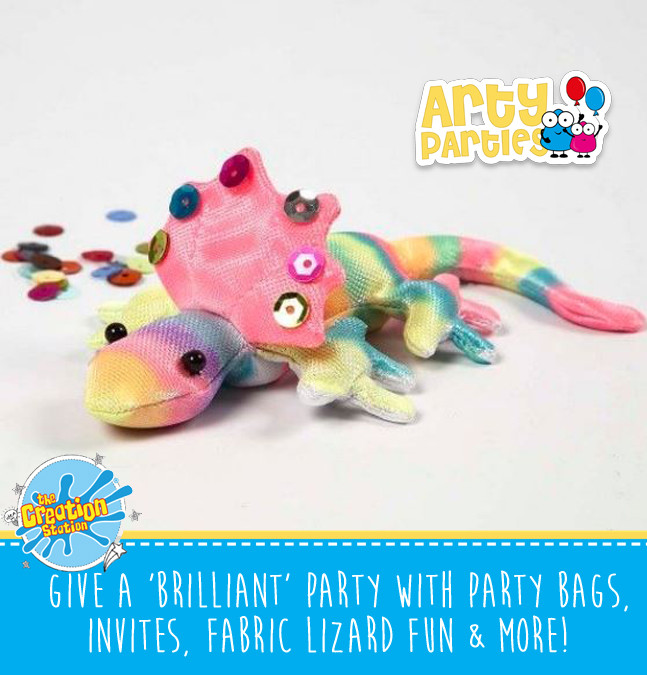 Kids party entertainment fabric lizard