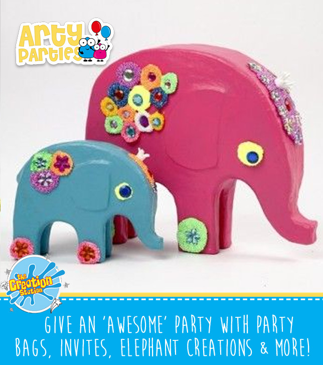 Kids party entertainment elephants dinsosaur creations