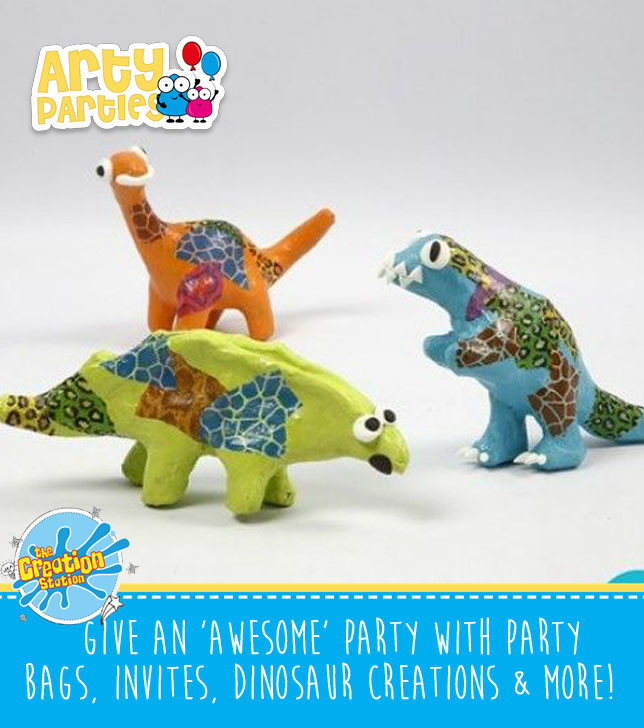 Kids party entertainment dinosaur creations