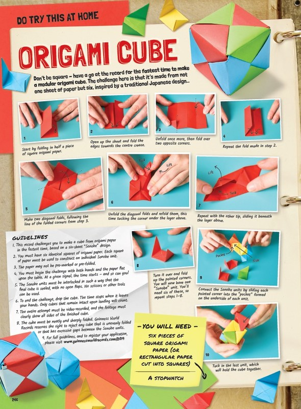 How to make an origami cube: page 1 | 800x590