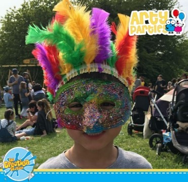 Corporate family fun events  - mask making with Creation Station