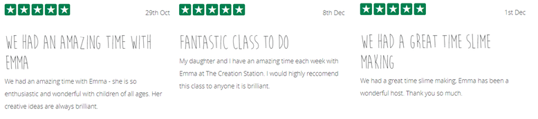 5* Reviews for Emma Winterbourne of The Creation Station Thame & Aylesbury West