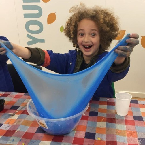 Sticky, slimey, gooey fun at The Creation Station