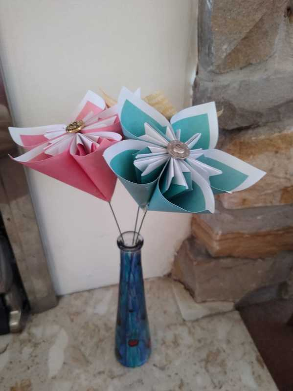 Beautiful Origami Flowers With The Creation Station