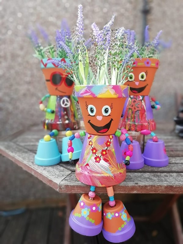 Flower Pot Craft for end of term