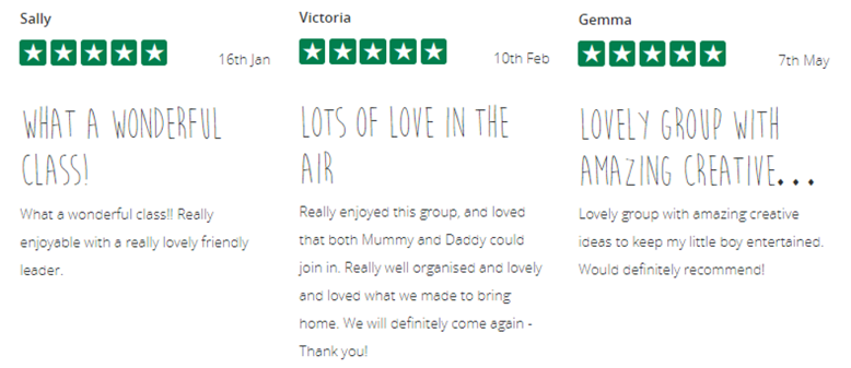 5* Reviews for Reshma of The Creation Station Eastbourne