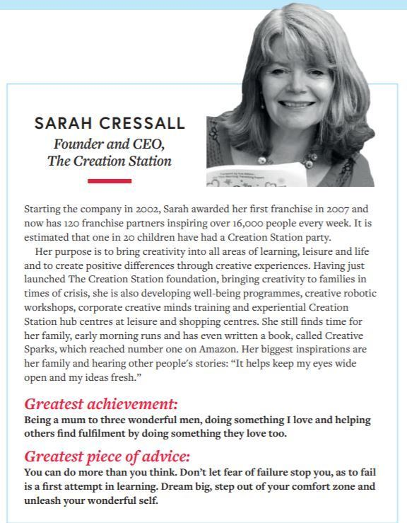 Sarah Cressall Top 10 women in franchising