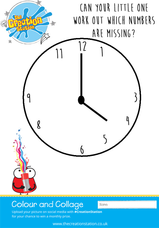 Clock Face game kids
