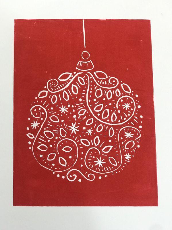 Creative Lino Cards For Christmas Gifting