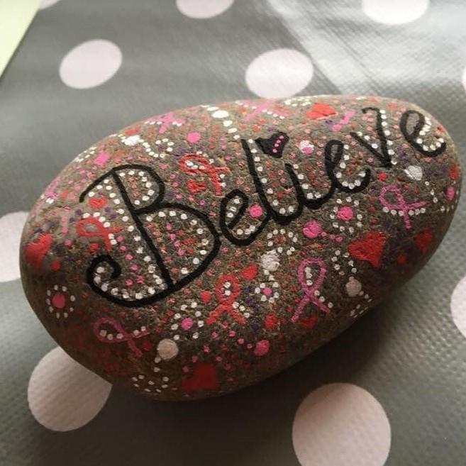 Beautiful Pebble Painting This Festive Season