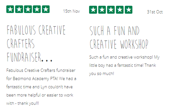 5* Reviews for Lyn Quinn of The Creation Station Watford and Rickmansworth