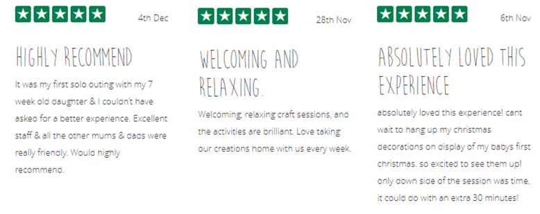 5* Reviews for Mandy Stone of The Creation Station Bloxwich & Pelsall
