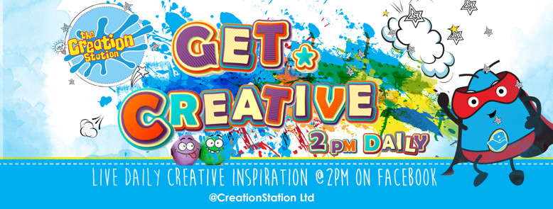 Live Facebook Creative Sessions  at 2pm every day from The Creation Station