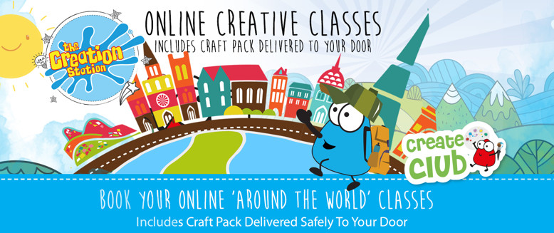 Online with crafts Create Club   around the world cover image clubs and workshops