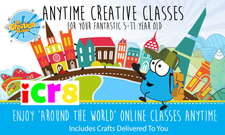 Creation Station Icr8 Online with crafts Create Club for kids aged 5 - 11 years