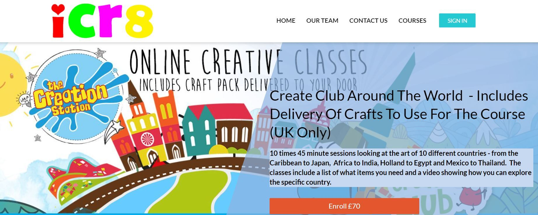 Creation Station online pre-recorded courses