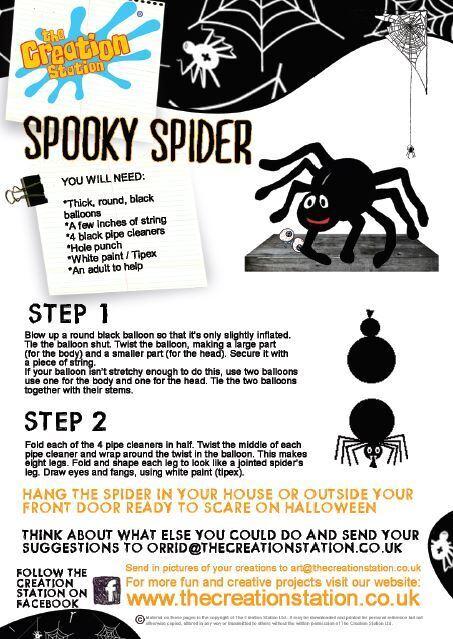 Creation Station Spooky spider halloween activity