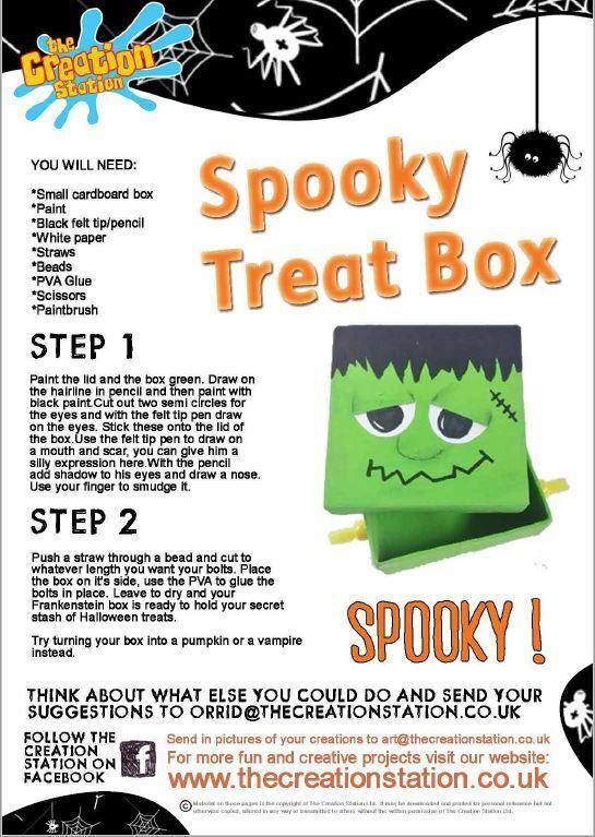 Creation Station Spooky Treat Box Activity Sheet