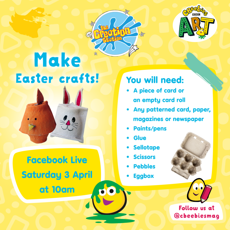 Cbeebies Magazine Easter crafts egg boxes