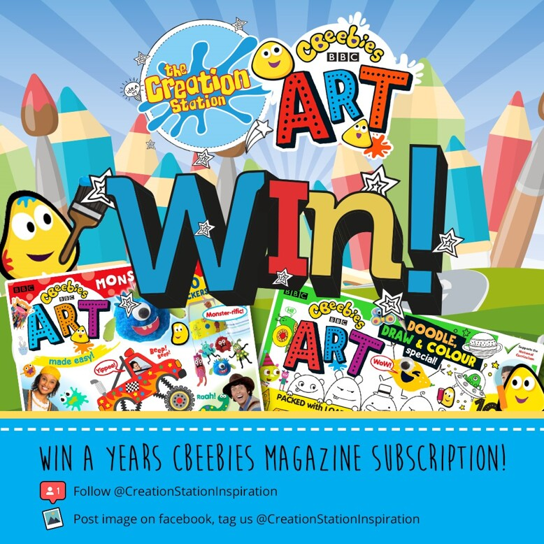 Competition to win an annual subscription to CBeebies Art Magazine.