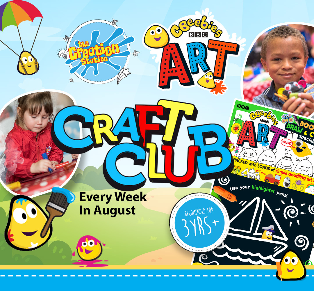 CBeebies Art Craft Club launches in August brought to you by The Creation Station.