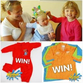 Win a Child's Creation Station Splashsuit or Painting Coat