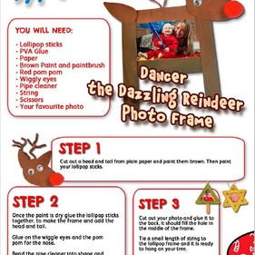 Day 6 - Reindeer photo frame | Creation Station Christmas Countdown