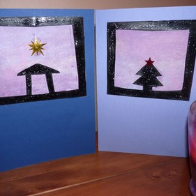 Day 13 - Silhouette Christmas Cards | Creation Station Christmas Countdown