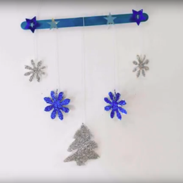 Day 4 - How To Make A Children's Winter Mobile
