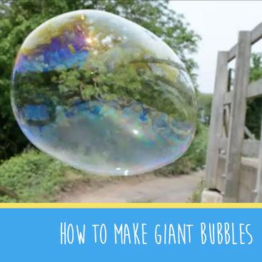 How to make giant bubbles #MakeItMonday