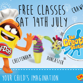 Smyths Superstores, Play-Doh, & The Creation Station provide free classes near you