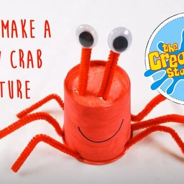 Easy crafts at home with kids - How to make a crab - #Make it Monday