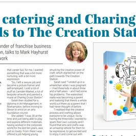 The Creation Station's Sarah Cressall features in Craft Business Magazine