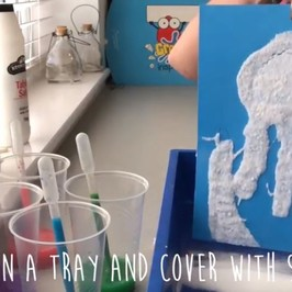Create Magic Pictures with Salt & Glue! #MakeitMonday