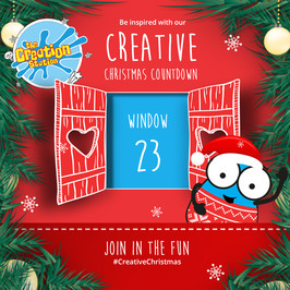 The Creation Station Crafty Christmas Advent - Day 23 Fun Fingerprint Canvases