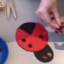 #MakeitMonday - Red Week at The Creation Station brings us this awesome Ladybug craft!